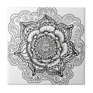 Black and White Mandala Tiles