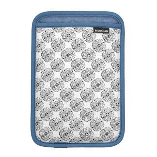 Black and White Mandalas Round Motif Design + add Sleeve For iPad Mini