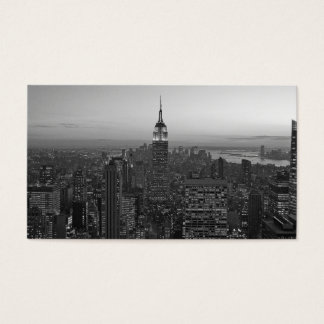 Black and White Manhattan Business Card
