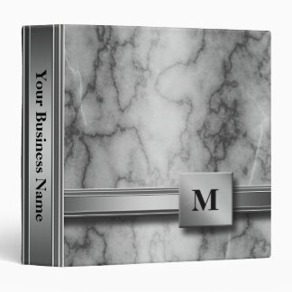 Black and White Marble Binder
