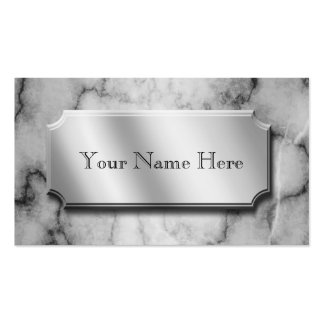 Black and White Marble Business Card