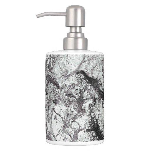 Black and white marble design bathroom accessories bath - Black marble bathroom accessories ...