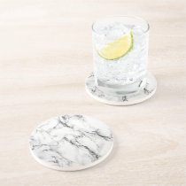 black and white marble drink coaster