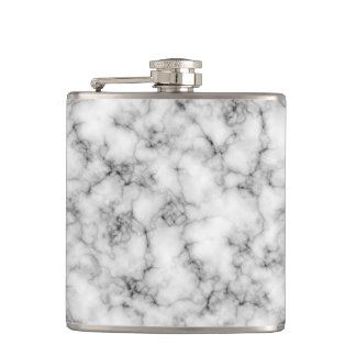 Black and White Marble Finish Flasks