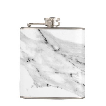 Beach Themed Black and White Marble Flask