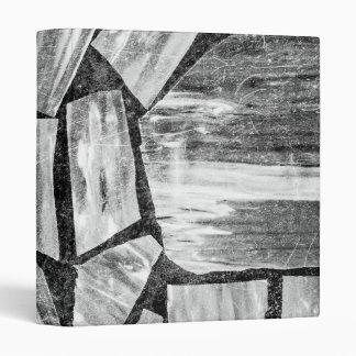 Black and White Marble Floor 3 Ring Binder