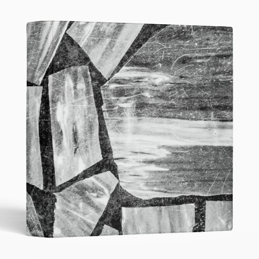 Black And White Marble Floor 3 Ring Binder Zazzle