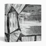 Black and White Marble Floor Vinyl Binders