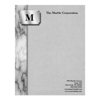 Black and White Marble Letterhead