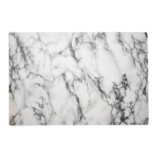 black and white marble look placemat