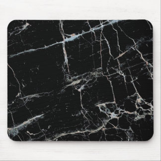 black and white marble mouse pad