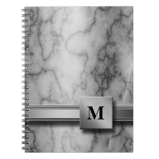 Black and White Marble Notebook