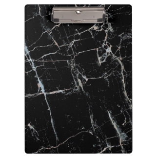 black and white marble pattern clipboard