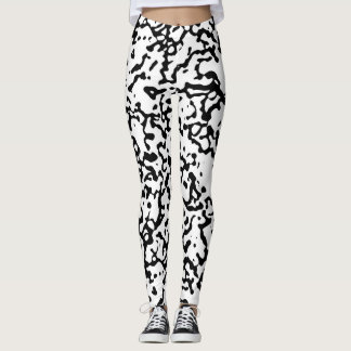 Black and White Marble Pattern Leggings