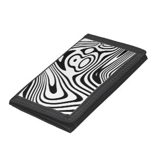 Black and White Marble Pattern Trifold Wallet