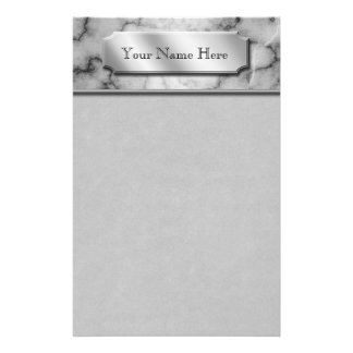 Black and White Marble Stationery