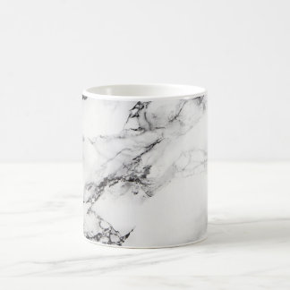 black and white marble stone coffee mug