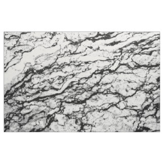 Black And White Marble Stone Pattern Fabric