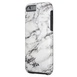 black and white marble stone tough iPhone 6 case