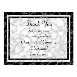 Black and White Marble Wedding Thank You