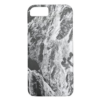 Black and White Marbled, Custom Text iPhone 7 Case
