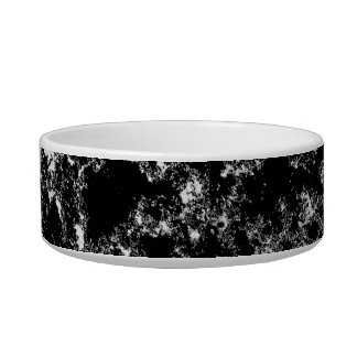 Black and White Marbled Look Pet Food Bowl