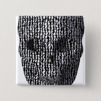 Black And White Marbled Skull Button
