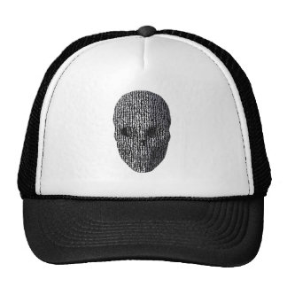 Black And White Marbled Skull Trucker Hat