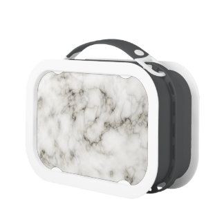 black and white marbleized stone finish lunch box