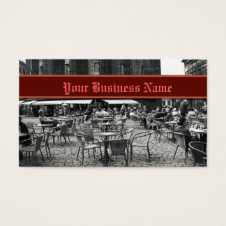 Black and White Marketplace Business Card