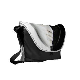Black and White Masked Messenger Bag
