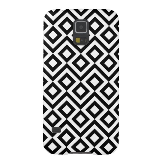 Black and White Meander Case For Galaxy S5