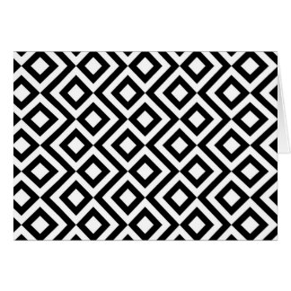 Black and White Meander Greeting Card