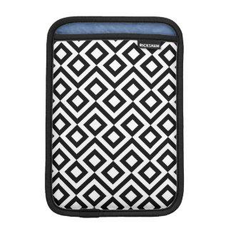 Black and White Meander iPad Mini Sleeves