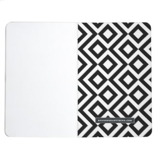 Black and White Meander Journal