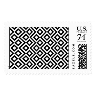 Black and White Meander Postage