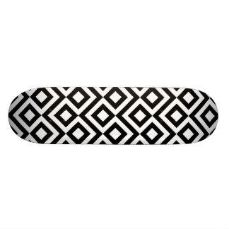 Black and White Meander Skateboard Deck