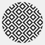 Black and White Meander Sticker
