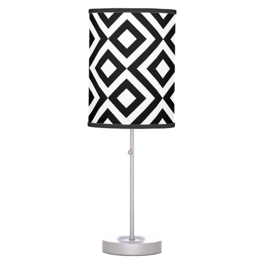 Black and White Meander Table Lamp