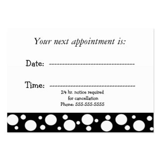 Black and White Medical Appointment Large Business Card