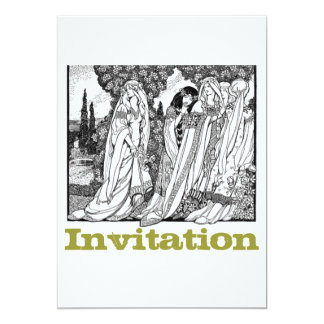 Black And White Medieval Fashions Card