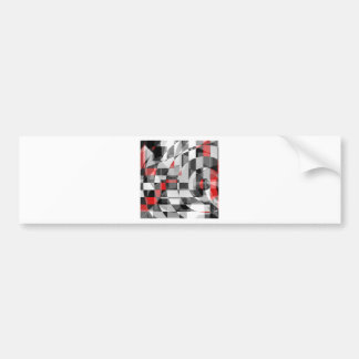 black and white meets red Version 1 Bumper Sticker