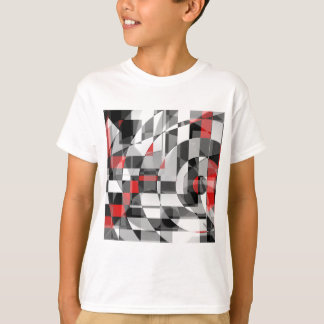 black and white meets red Version 1 T-Shirt