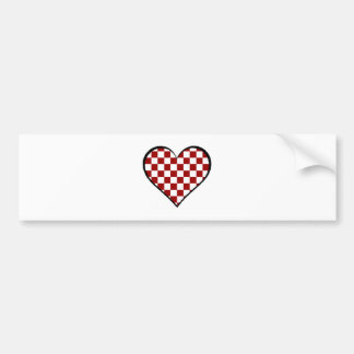 Black and white meets red version 25 bumper sticker