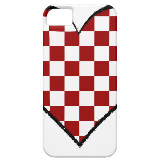 Black and white meets red version 25 iPhone SE/5/5s case