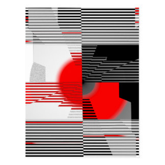 Black and white meets red Version 4 Postcard