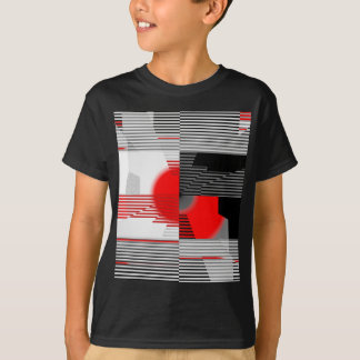 Black and white meets red Version 4 T-Shirt