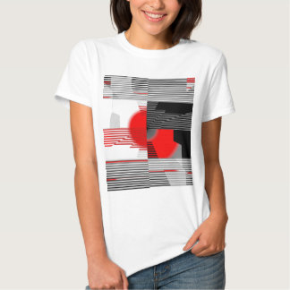 Black and white meets red Version 4 T Shirt