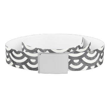 Beach Themed Black and White Mermaid Pastel Pattern Belt