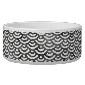 Black and White Mermaid Pastel Pattern Bowl